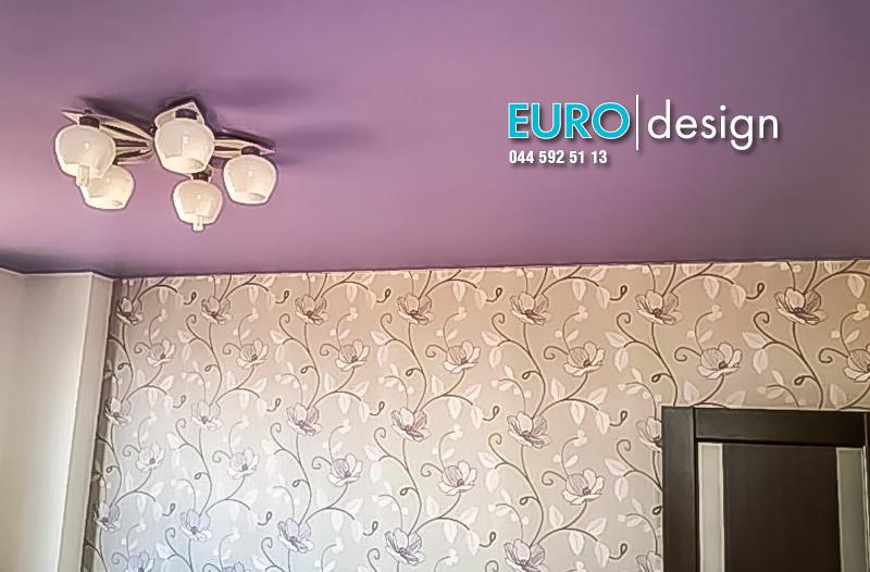 Монтаж натяжного потолка в спальню