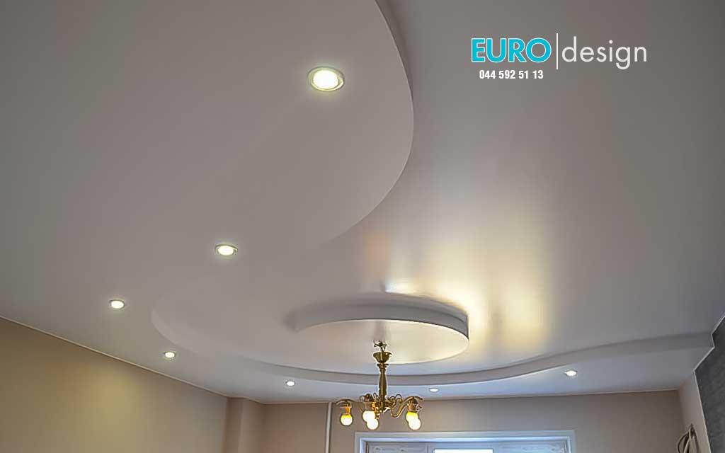 Многоуровневые натяжные потолки могут быть выполнены в два, три и даже четыре уровня. Между уровнями может устанавливаться Led подсветка. Так же, высота между уровнями может варьироваться в зависимости от выбора многоуровневого профиля. Цена - от 400 грн. м.