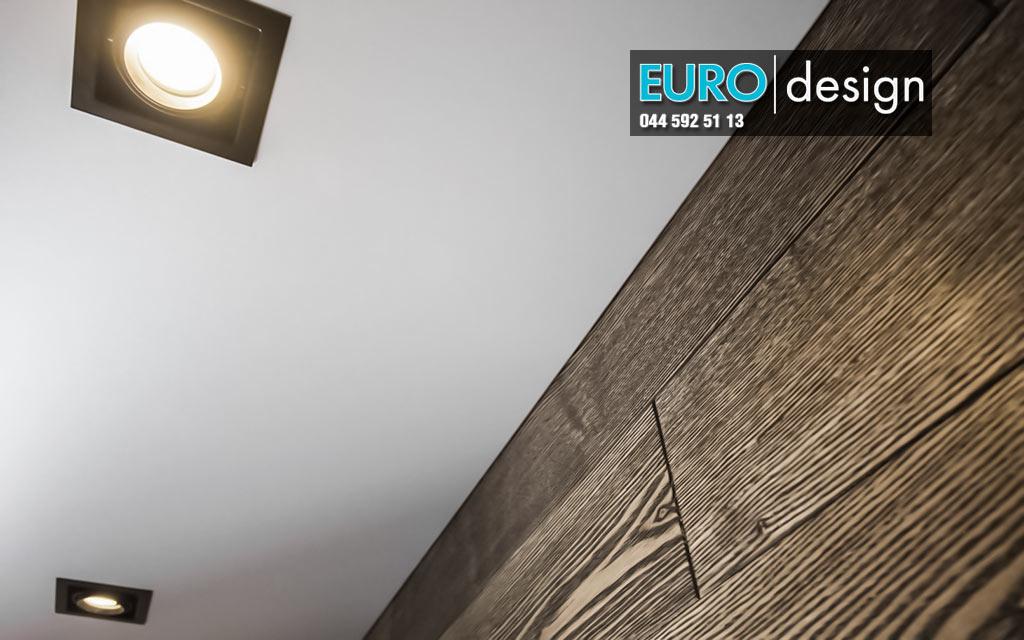 <strong>Бесщелевые натяжные потолки заслуживают особого внимания благодаря специализированному профилю и особому способу крепления, при котором полотно вплотную прилегает к стене.  Такой способ крепления позволяет обходится без вставок, багетов и плинтусов по всему периметру. Подходит для комнат любого назначения. Цена от 300 гривен за кВ.м</strong>