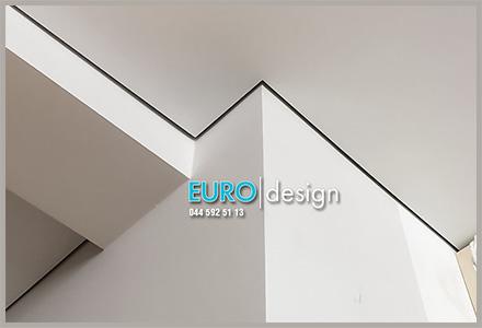 Монтаж теневых натяжных потолков