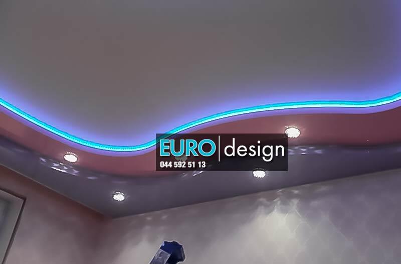 Натяжные потолки с LED освещением
